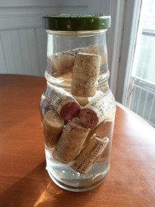 start a fire with corks